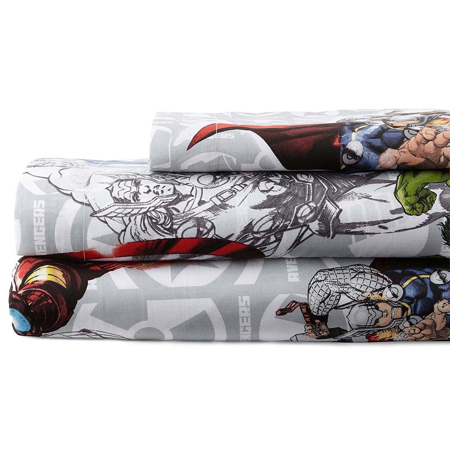 Avengers bedding set twin - Amazon Com Marvel Avengers Blue Circle Sheet Set Twin Home Kitchen