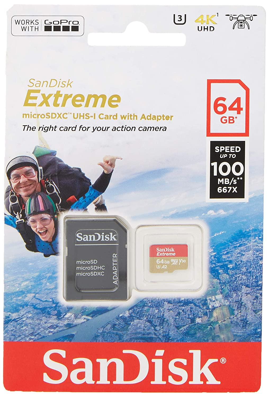 SanDisk Extreme - Tarjeta de memoria 64GB microSDXC para móvil ...