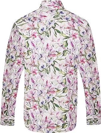 Jenson Samuel - Camisa estampada floral para hombre (talla S a 4XL): Amazon.es: Ropa y accesorios