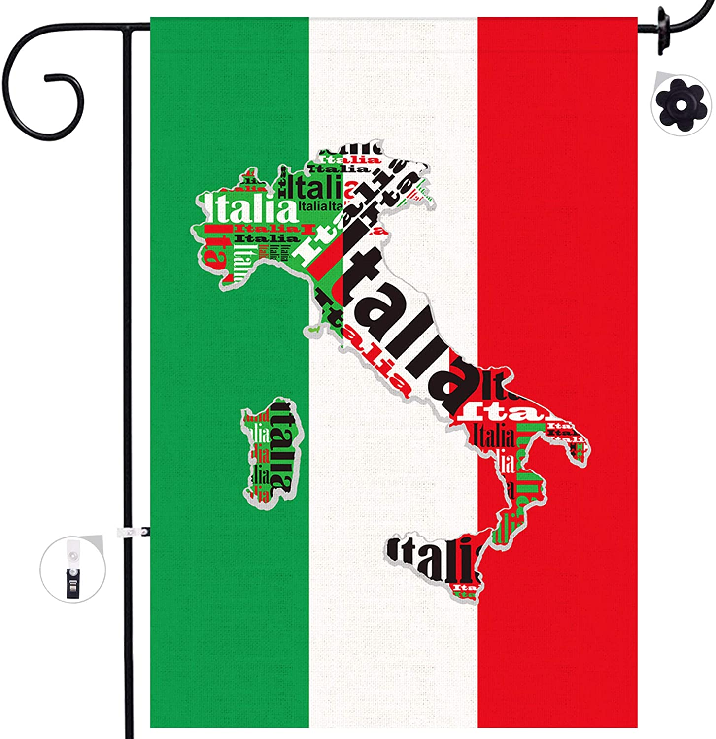 Amazon Com Bonsai Tree Italian Garden Flag Double Sided Italy Map Burlap House Flags 12x18 Prime National Country Yard Signs State Home Outdoor Decor Banners Garden Outdoor