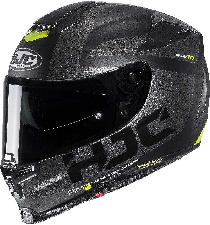 HJC RPHA 70 BALIUS NC5SF - Casco de moto (talla XS), color negro y blanco