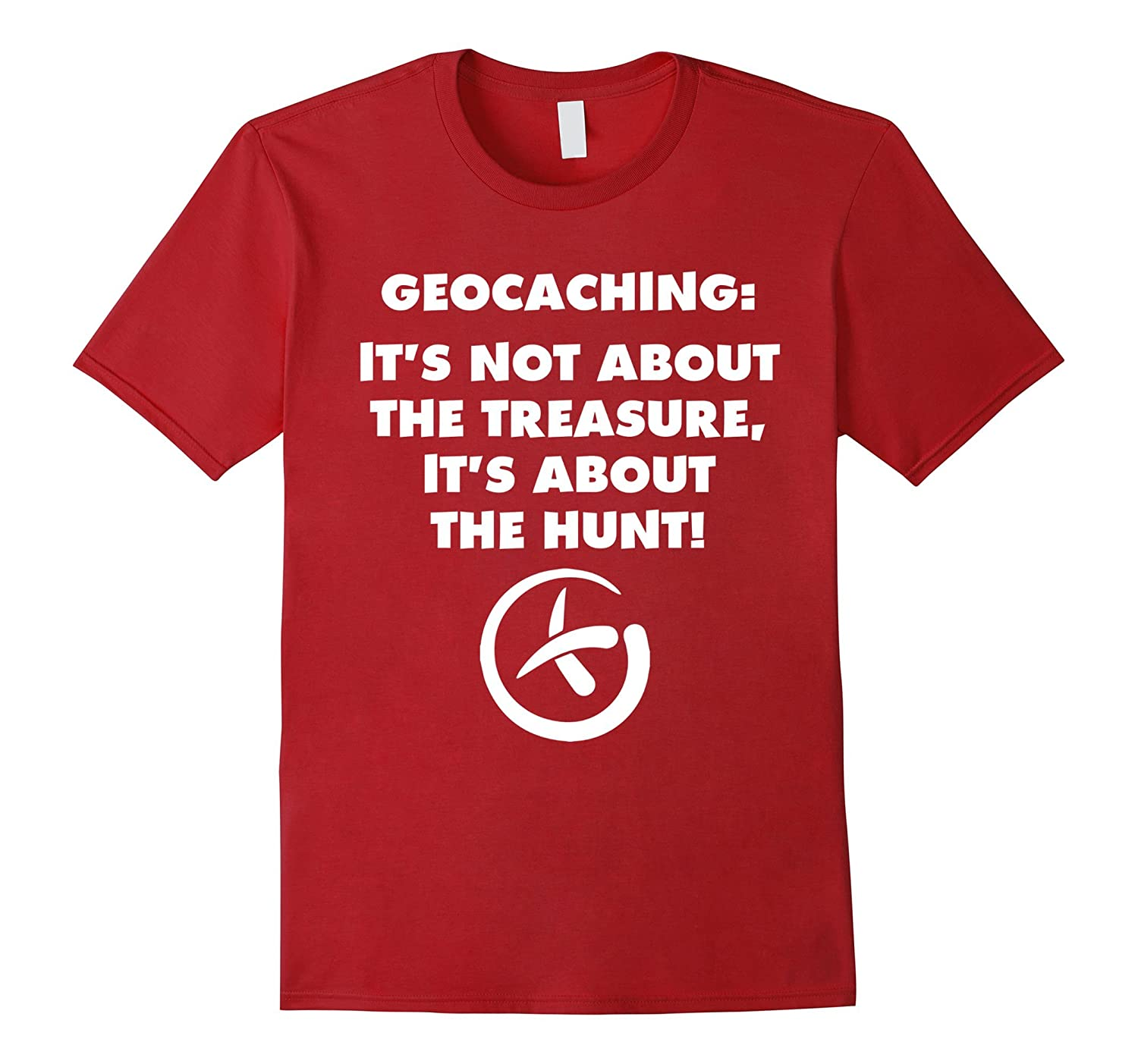 Geocaching Not About Treasure About the Hunt T-Shirt-Vaci