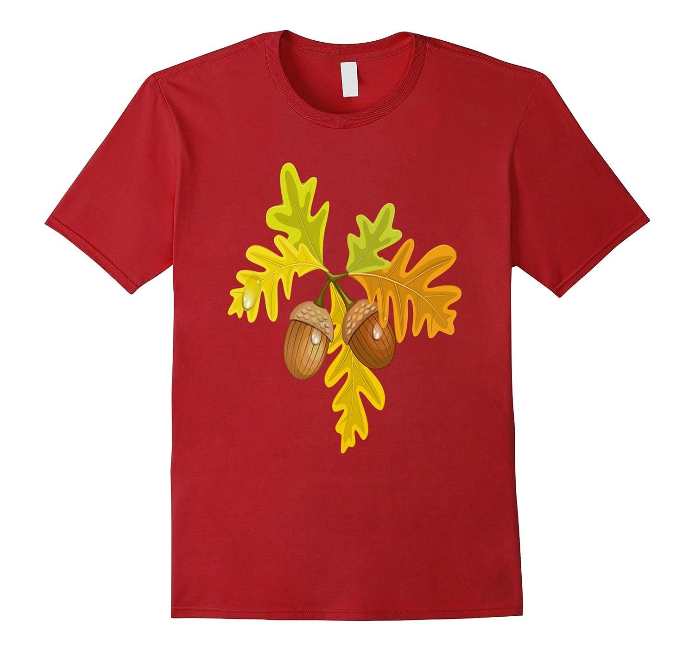 Fall Autumn Acorn Leaves Leaf Peepers Foliage T-Shirt- TPT
