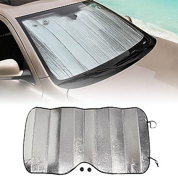 NOVSIGHT Universal lámina de Aluminio Reflectante Coche Parabrisas Parasol Delantero Ventana Parasol Parabrisas Visor Cubierta UV