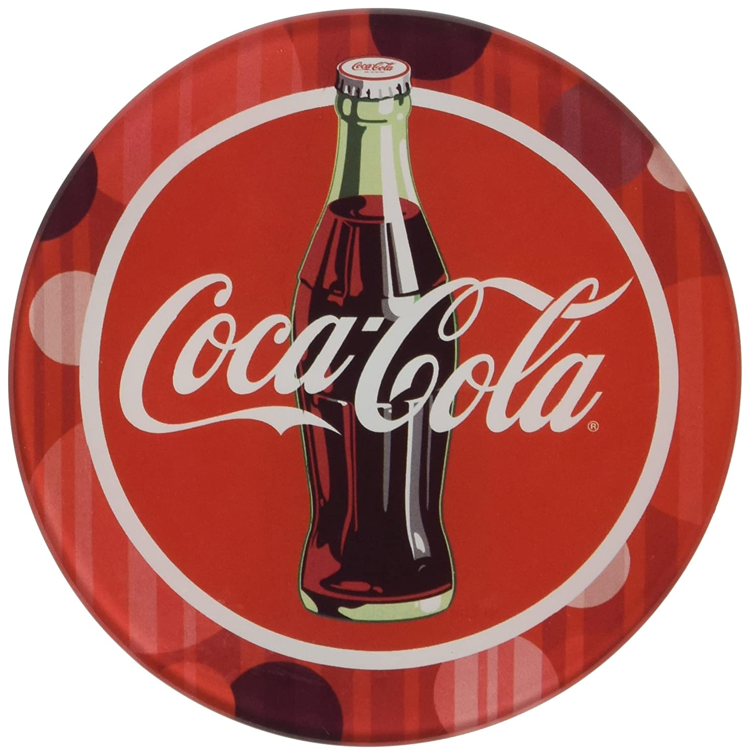 Multicolor 24809 Set of 4 Westland Giftware Glass Coca-Cola Coaster