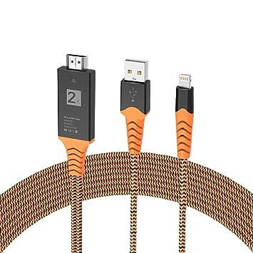 Youkex - Cable Adaptador Compatible con iPhone iPad a HDMI de 6,6 ...