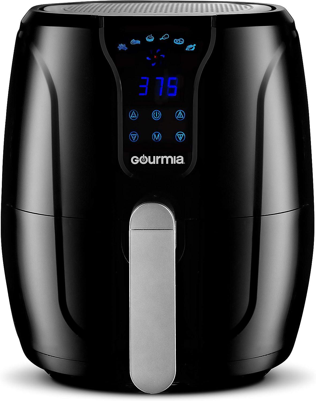 Gourmia GAF560 - Freidora de aire para cocinar sin aceite, 5 litros de capacidad, tiempo ajustable y diales de temperatura, bandeja desmontable para...
