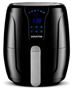 Gourmia GAF328 Digital Air Fryer | Oil-Free Healthy Cooking | 3.5-Quart Capacity | 6 Cook Modes | Removable, Dishwasher-Safe Tray | Free Recipe Book Included