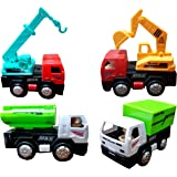 Toyshine Engineering Automobile Car Toy Set, Pack of 4
