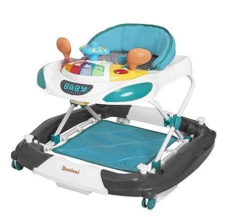 Baninni Rosco Bn701 - Andador para bebé en turquesa gris: Amazon ...