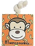 (Monkey New) - Jellycat Board Book, If I were a Monkey Book - 15cm