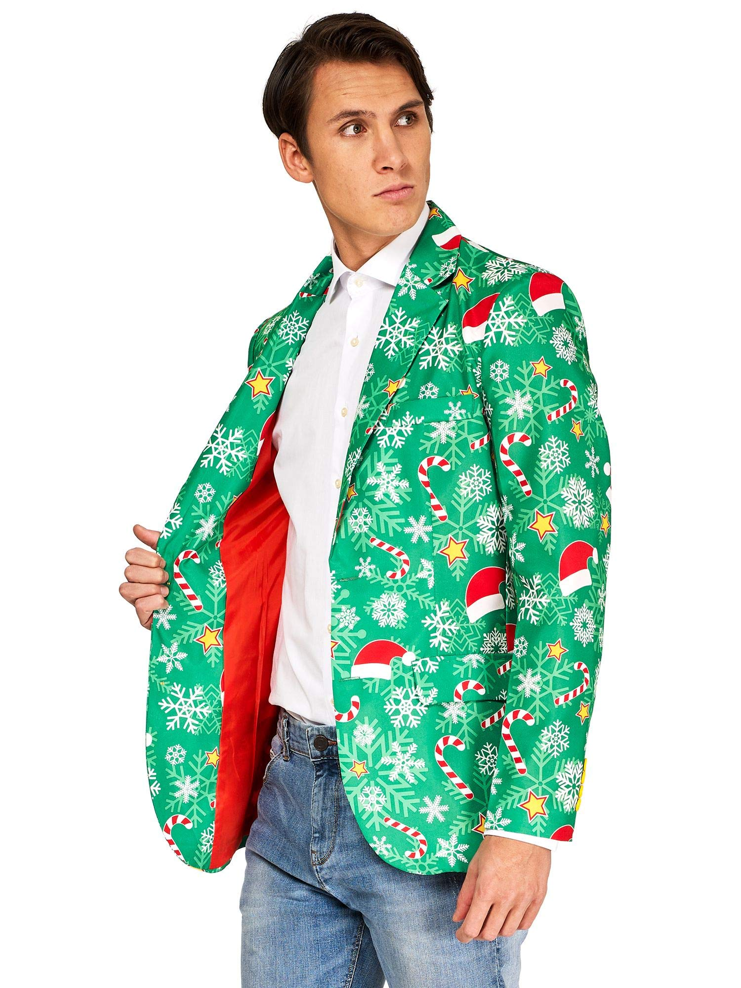 OFFSTREAM Ugly Christmas Jackets for Men - Green Time Jacket Only - Xmas Sweater Blazer - XL by OFFSTREAM