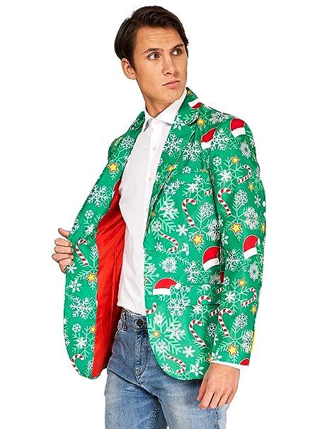 Amazon.com: OFFSTREAM Ugly Christmas Chaquetas para hombre ...