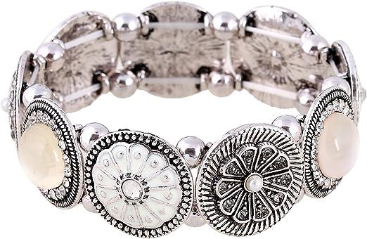Ladies 7 Piece Black Enamel Glitt Bangle Set Bracelets Ladies Fashion Jewellery