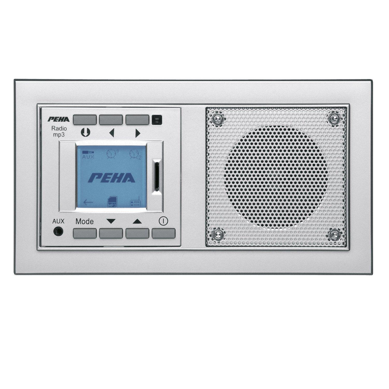 PEHA MP3 Unterputz Radio AudioPoint Im Nova Design Ohne Funksender, Rahmen  Alu: Amazon.de: Baumarkt
