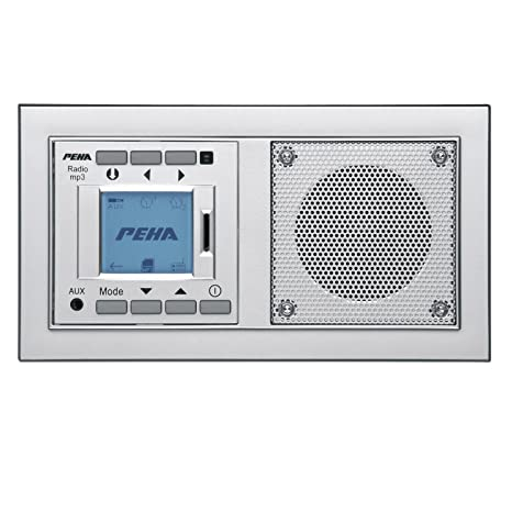 PEHA MP3 Unterputz-Radio AudioPoint im Nova-Design ohne Funksender, Rahmen  Alu