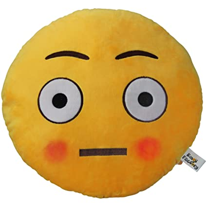 Amazon Com Emoji Factory Plush Stuffed Cushion Flushed