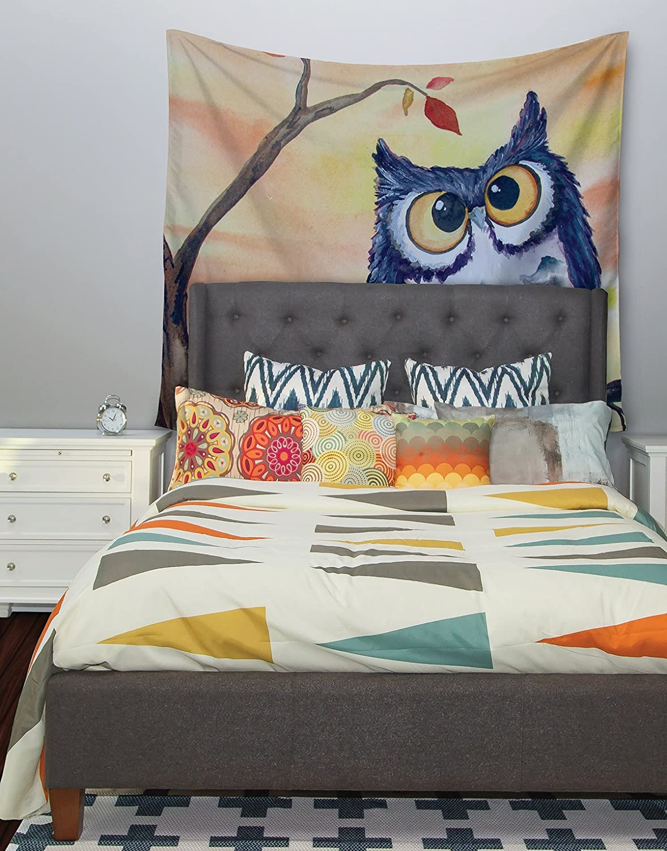 Kess InHouse Padgett Mason Hootie Cutie Wall Tapestry 68 X 80