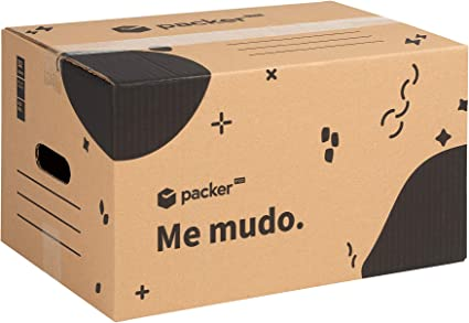 Pack 20 Cajas Carton para Mudanzas y Almacenaje 430x300x250mm Ultra Resistentes con Asas, 100% ECO Box   Packer PRO: Amazon.es: Oficina y papelería