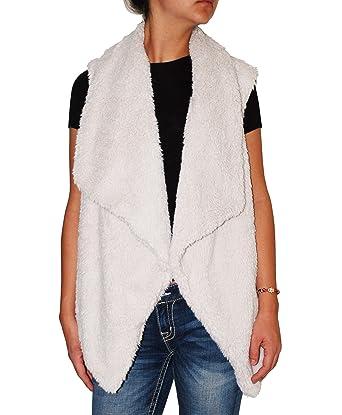 Bb Dakota Womens Plus Size Nils Sweater Vest With Faux Fur At
