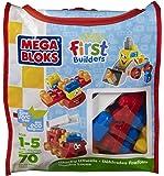 Mega Bloks First Builders Wacky Wheels (Bag), 6636, 70 Pieces