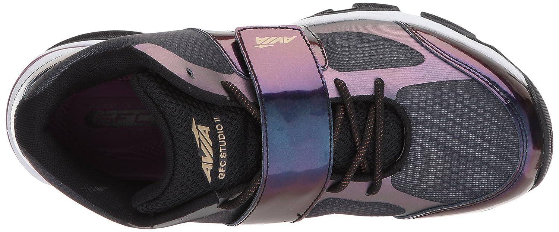 Avia Women's Gfc Studio II Sneaker B06XC8K9Q1 10 M US|Black/Iron Grey/Plumberry