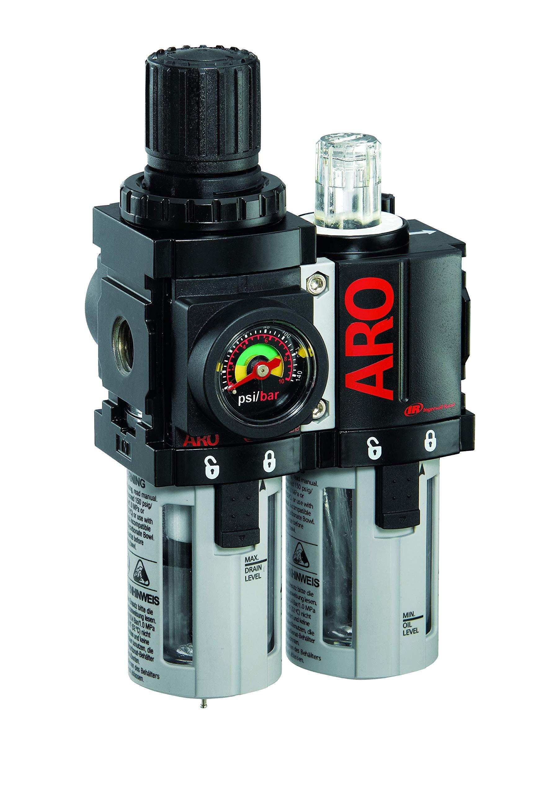 ARO C38121-600-VS Air Filter-Regulator-Lubricator Combination, 1/4'' NPT by Ingersoll Rand