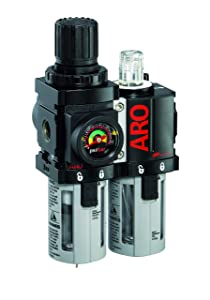 "ARO C38341-600-VS Air Filter-Regulator-Lubricator Combination, 1/2"" NPT"