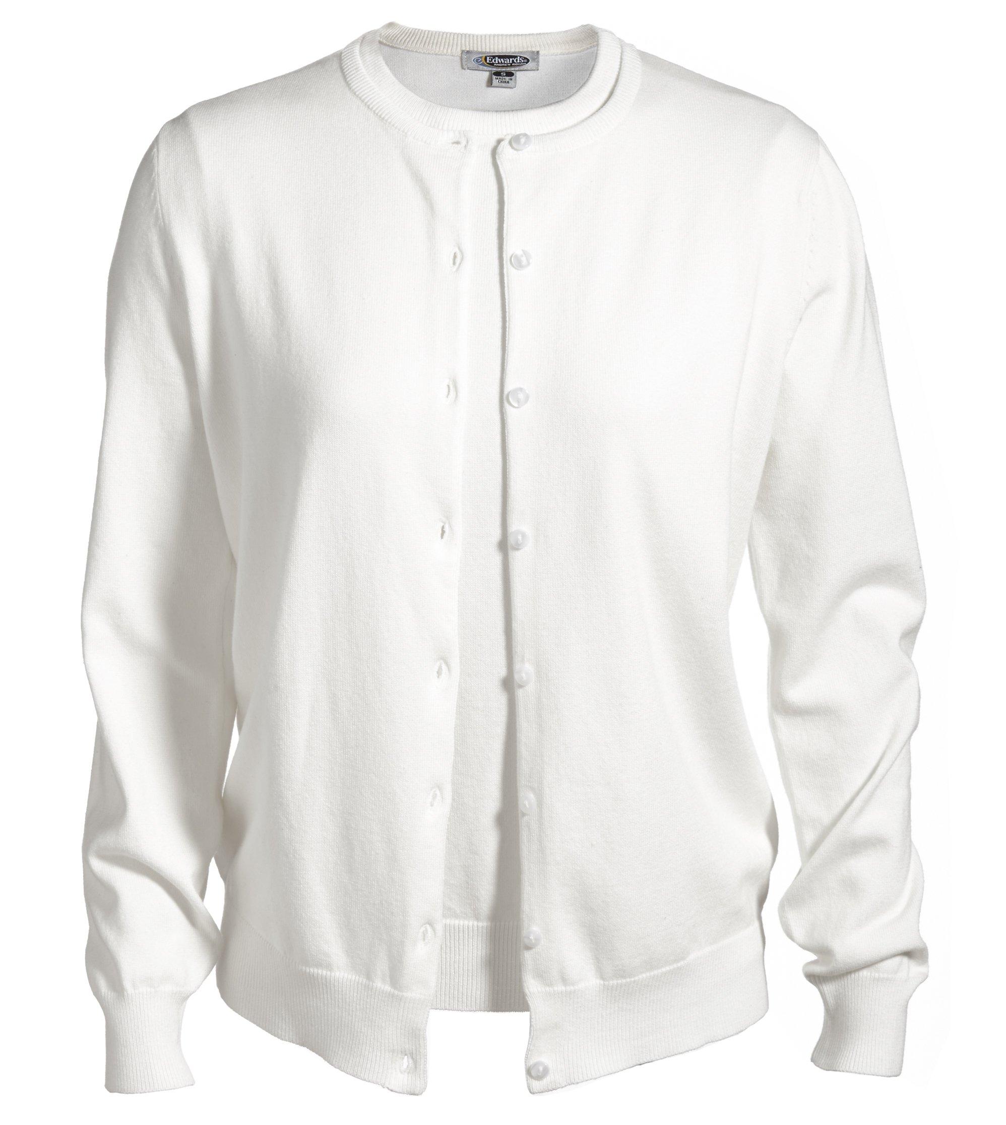 Averill's Sharper Uniforms Women's Ladies Fine Gauge Twin Sweater Set Medium White by Averill's Sharper Uniforms (Image #1)