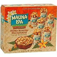 Mauna Loa Macadamia Nuts 6 Can Gift Box (Honey, Dry, and Classic Assortment) (Honey Roasted)