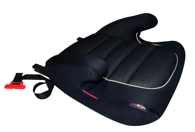 HiTS4KiDS AZKFZ065 Kindersitzerh/öhung mit ISOFIX und GURTFIX Gruppe 2-3 15-36 kg Auto-Sitzerh/öhung ECE R44//04 gepr/üft circa 3-12 Jahre Kindersitz schwarz
