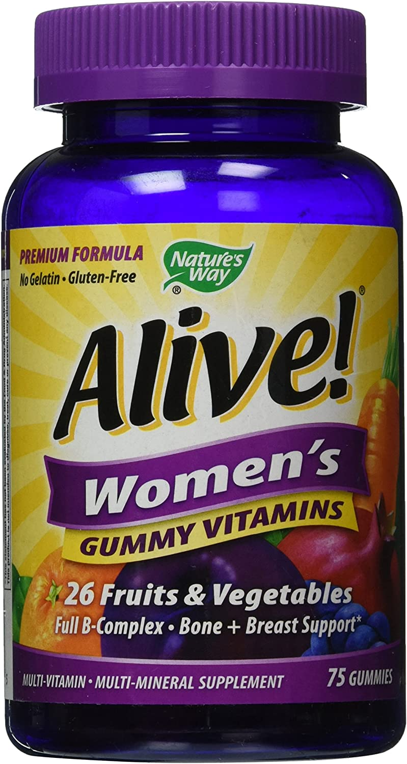 Amazon Com Nature S Way Alive Women S Energy Gummy Multi Vitamins 75 Count Health Personal Care
