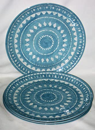 Target Threshold Blue u0026 White 10 1/2 Inch Melamine Dinner Plate ... & Amazon.com | Target Threshold Blue u0026 White 10 1/2 Inch Melamine ...