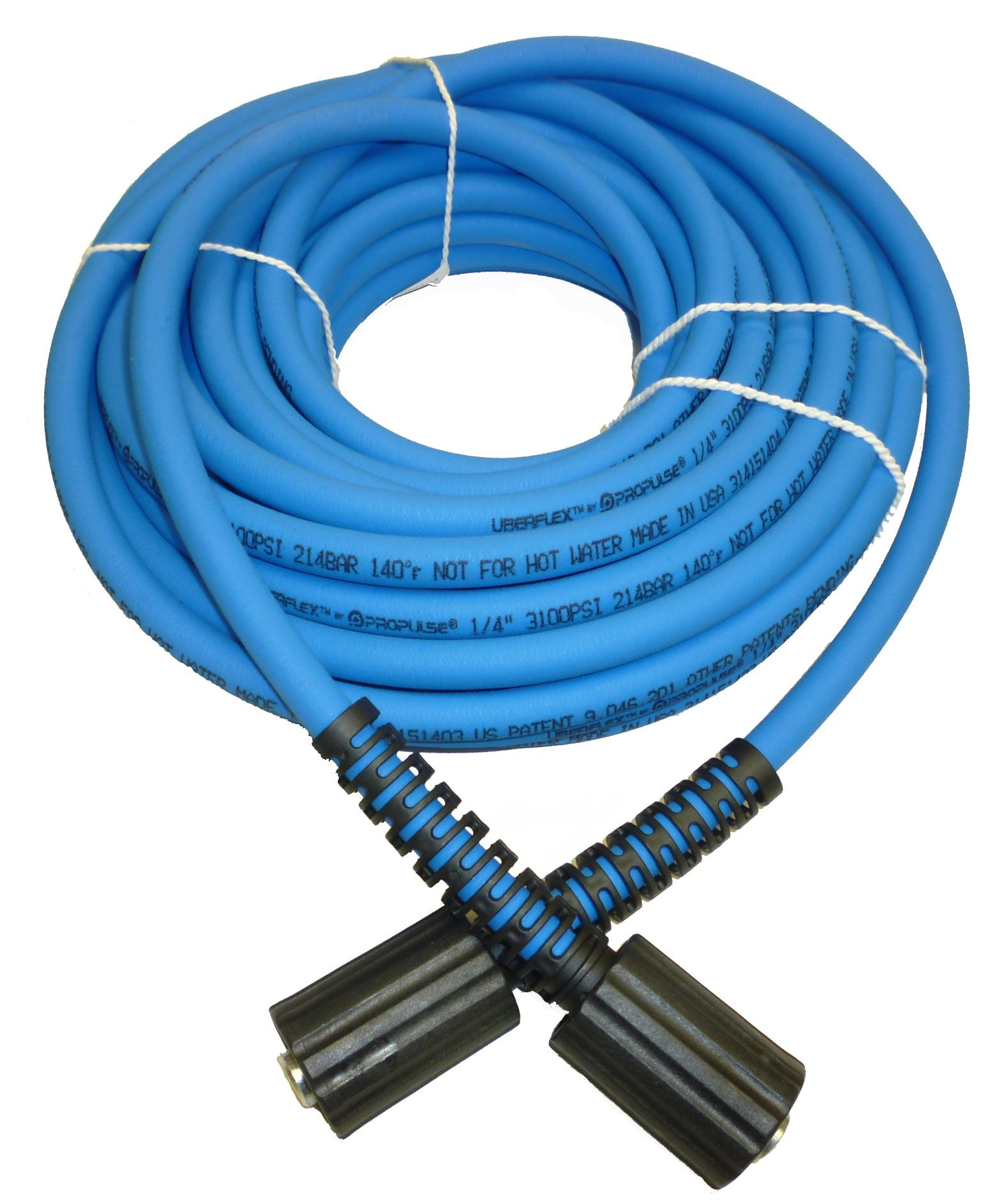 UBERFLEX Kink Resistant Pressure Washer Hose 1/4'' x 50' 3,100 PSI with (2) 22MM by PROPULSE