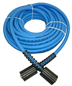 "UBERFLEX Kink Resistant Pressure Washer Hose 1/4"" x 50' 3,100 PSI with (2) 22MM"