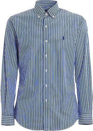 Polo Ralph Lauren camisa hombre mod. 710-787320 blanco/azul: Amazon.es: Ropa y accesorios