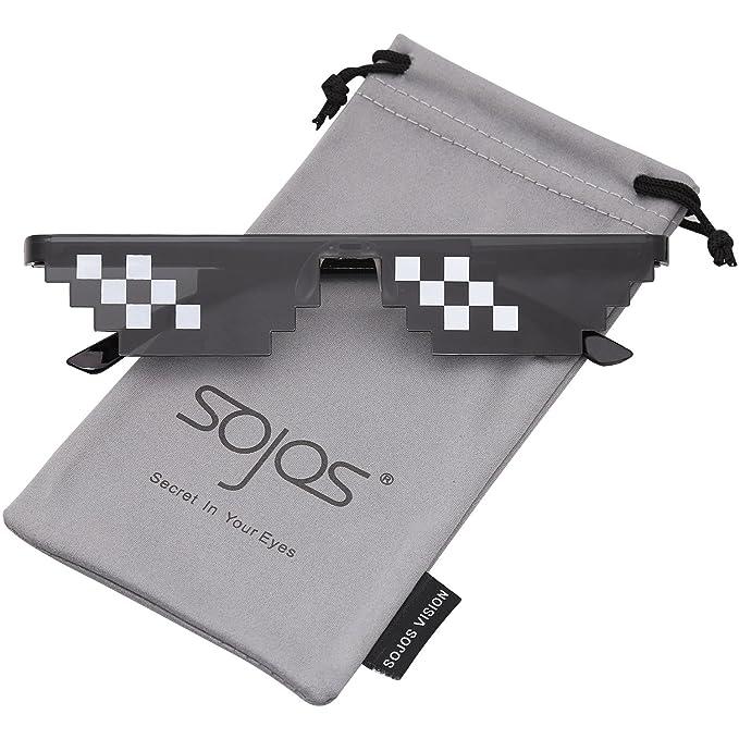 4d81cb67a5 SOJOS Thug Life Gafas De Sol Mosaico 8 Bit Pixel Diversión SJ2049 Marco  Negro Mosaico pequeña: Amazon.es: Ropa y accesorios