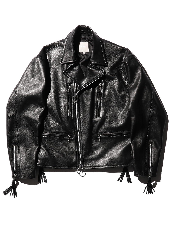 (ビームス) BEAMS/ワイド ライダースジャケット 11181375202 B07FH835RL  ブラック S