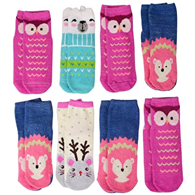 4 Pairs Womens Girls Thick Fuzzy Socks Warm for Winter Fit Shoe Size 6-10, Extra 2 Pairs Free Christmas Gift for Parents