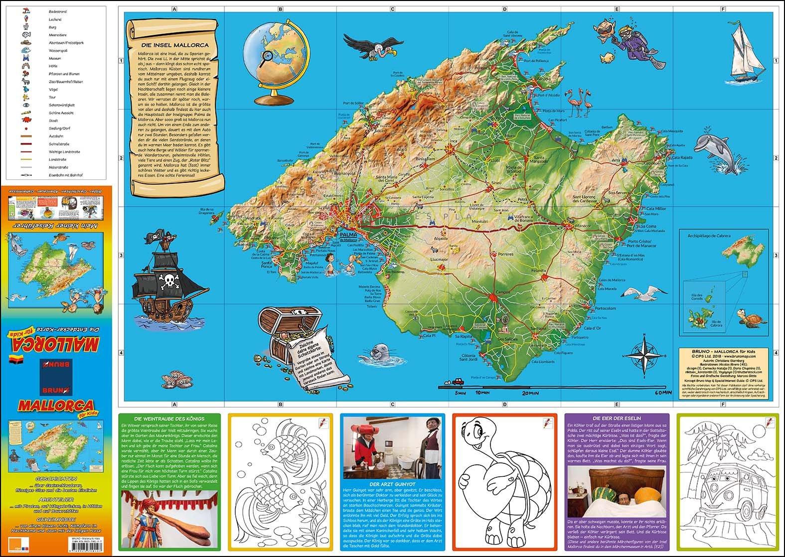 Unwetter Mallorca Karte.Bruno Mallorca Landkarte Und Reiseführer Für Kinder Die Entdecker