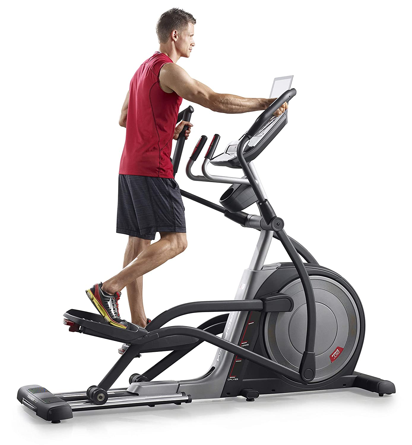 ProForm -Ellipticals und Crosstrainer -Trainer 7.0, 22 digitale Widerstands-Level,28 Workouts,10% Steigung ,MP3-Anschluss, Lautsprecher-PFEVEL10716