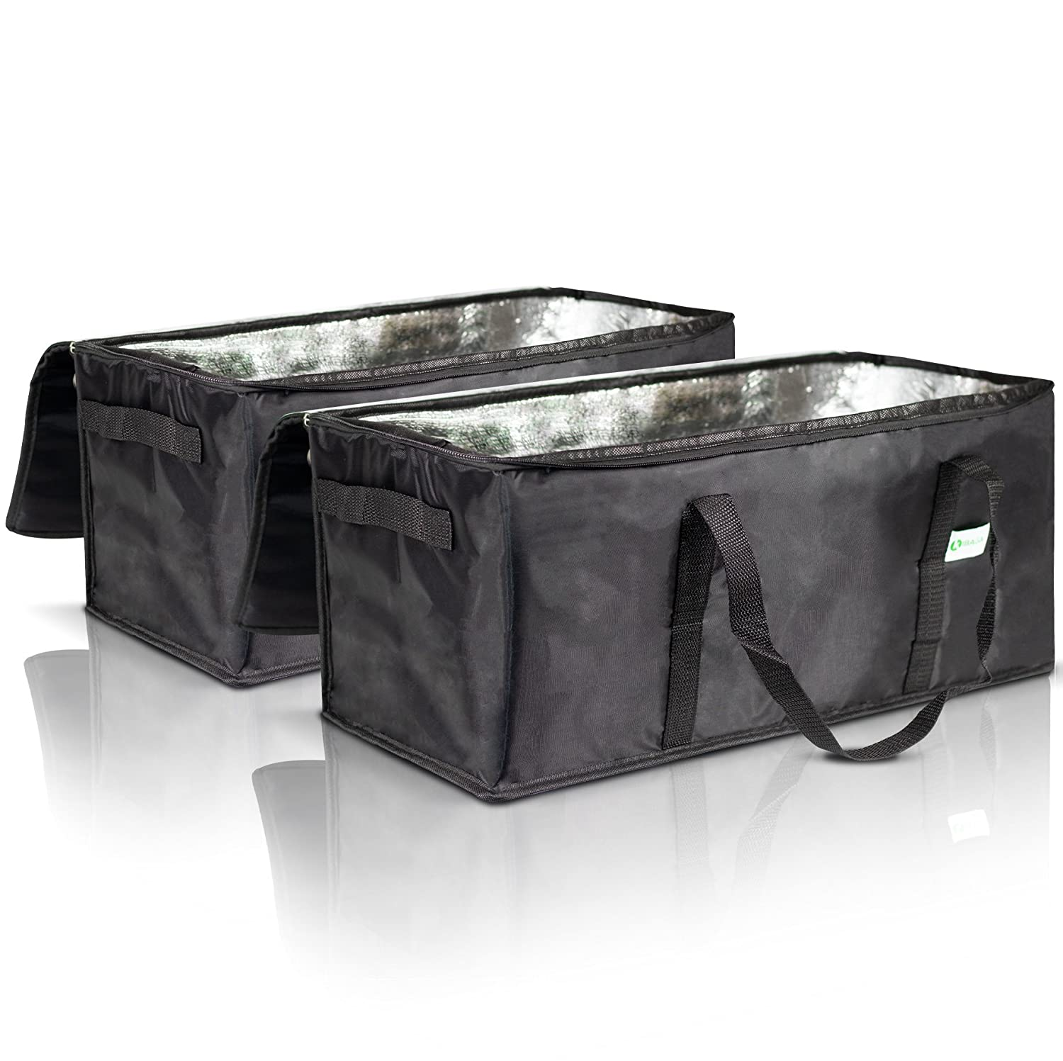 "Commercial Insulated Food Delivery Bags Set of 2-22"" x 10"" x 10"" Waterproof Delivery Bags for Hot Food Delivery - Premium Food Warmer Bags for Uber Eats and Doordash Food Delivery"