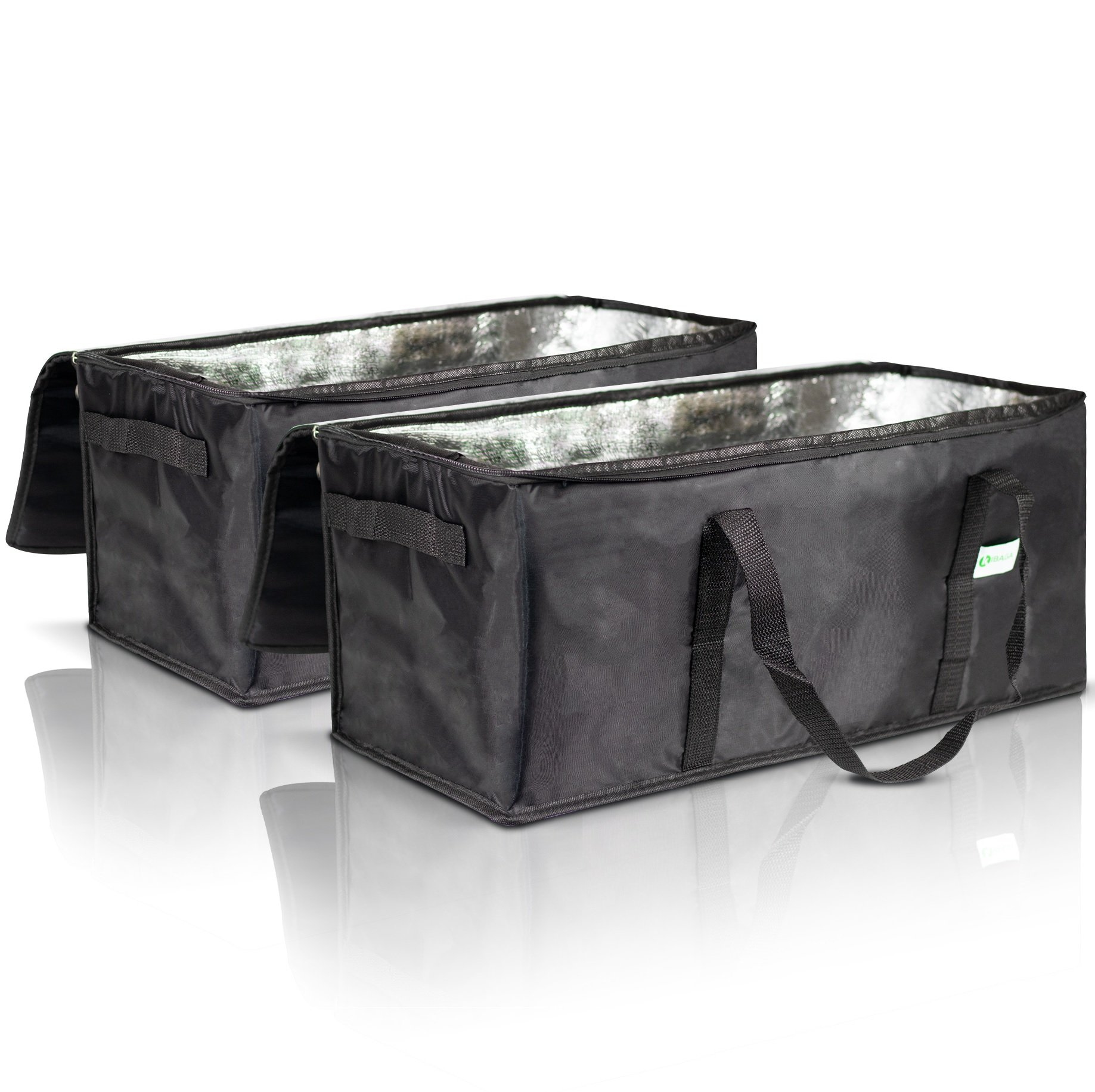 Premium Insulated Food Delivery Bags Set of 2 - Waterproof Restaurant Delivery Bags 22'' x 10'' x 10'' - Perfect Commercial Food Warmer Bags to Bring Hot/Cold Food Home