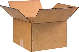 """product image for Partners Brand PKEG14 Double Wall Boxes, 9""""L x 9""""W x 6 1/2""""H, Kraft (Pack of 25)"""