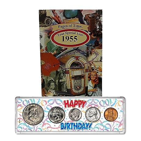 Amazon 1955 year coin set greeting card 62nd birthday gift 1955 year coin set greeting card 62nd birthday gift happy birthday m4hsunfo