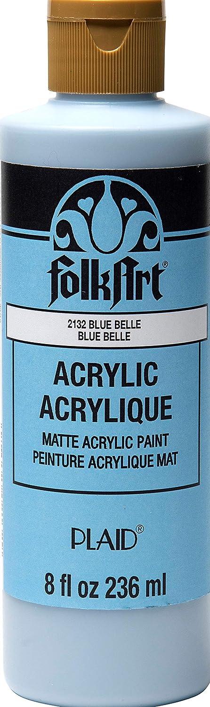 FolkArt Matte Acrylic Craft Paint, 8 oz, Blue Belle