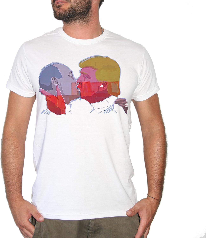 Brain Factory Camiseta Beso Muro de Berlín Putin-Trump – by ...