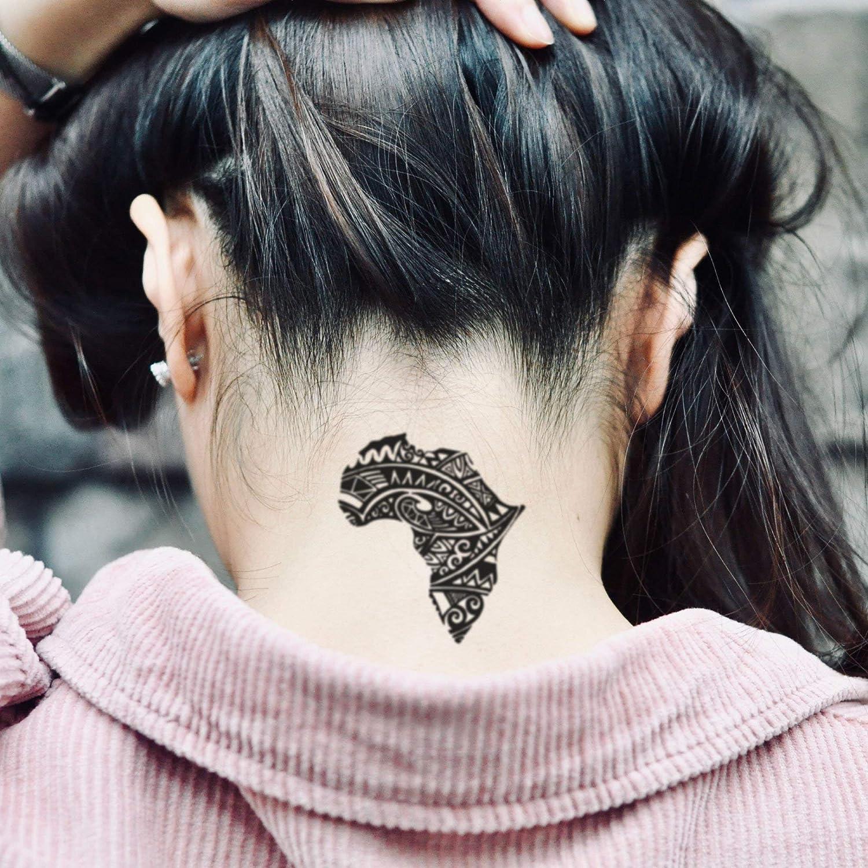 Tatuaje Temporal de Mapa de África Arte tribal africano Cultura (2 ...