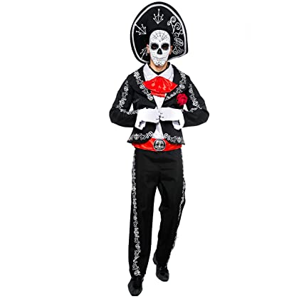 3b9854ccf ... Spooktacular Creations Mens Day of The Dead Mariachi Senor Adult  Costume Set Halloween Dress Up Party ...