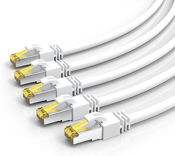 Csl 5 X 0 25m Cat 7 Netzwerkkabel Gigabit Ethernet Computer Zubehör
